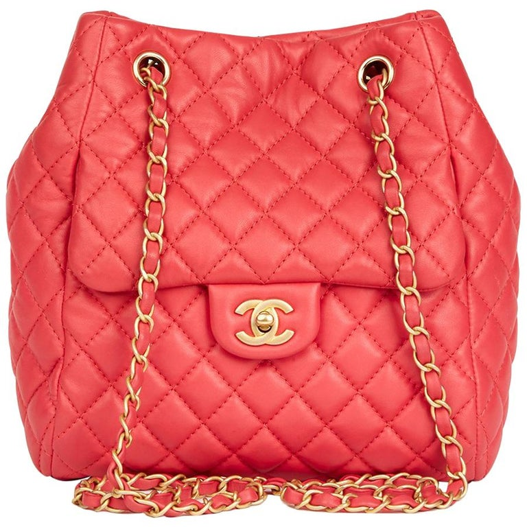 d4b7db65244b 2017 Chanel Rose Quilted Lambskin Classic Bucket Bag For Sale at 1stdibs