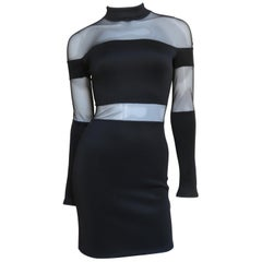 Pierre Balmain Bandage Dress with Sheer Panels