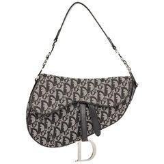 2006 Christian Dior Black Monogram Canvas Saddle Bag
