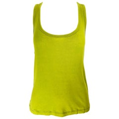 New Chloe Fall 2007 Mushy Peas Chartreuse Racerback Sleeveless Tank Top Shirt
