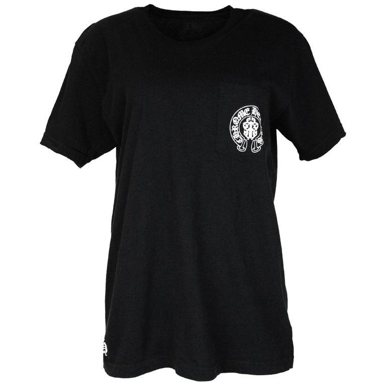 3a2da9b71f44 Chrome Hearts Men s Black Flag American Flag Cotton Pocket Short Sleeve  T-Shirt For Sale