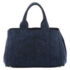Prada Canapa Tote Denim Small