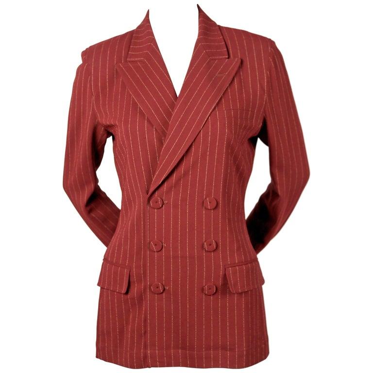 1990's JEAN PAUL GAULTIER classique pin-striped jacket