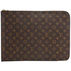 Vintage Louis Vuitton Poche Documents Monogram Canvas Clutch Bag