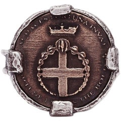 Petit Audaces Cross Coin Ring