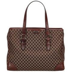Celine Brown Macadam Jacquard Tote Bag