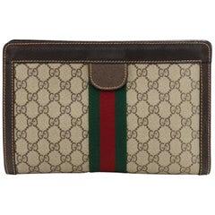 Vintage Gucci Gucci Parfums GG Supreme Canvas Clutch Bag
