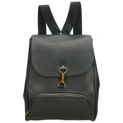 Louis Vuitton Dark Green Taiga Leather Cassiar Backpack
