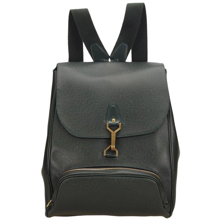 1eadec76a095 Louis Vuitton Dark Green Taiga Leather Cassiar Backpack at 1stdibs