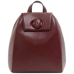 Vintage Cartier  Burgundy Cowhide Leather Backpack Bag