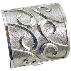Bartek vintage Chrome Cuff Bracelet