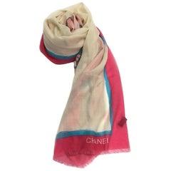 """Chanel Shawl """"Viva COCO Cuba Libre"""" in Multicolored Cashmere"""