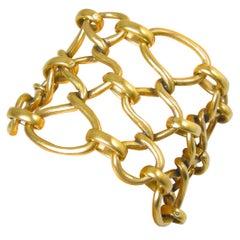 Vintage Oscar de la Renta Twisted Bottleneck Chain Bracelet