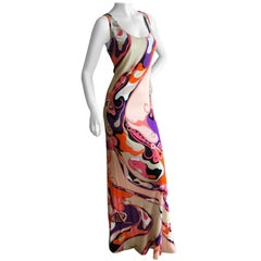 Emilio Pucci Embellished Tank Style Sleeveless Evening Dress Size 12