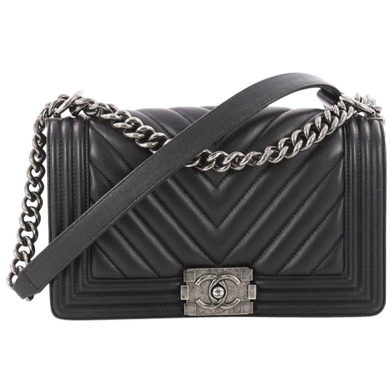 d1ef868c3a11 Chanel Boy Flap Bag Chevron Calfskin Old Medium at 1stdibs