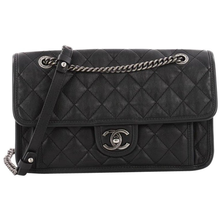 420d757e53cf Chanel Casual Riviera Flap Bag Quilted Calfskin Medium at 1stdibs
