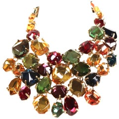 Yves saint Laurent poured glass bib necklace, 1987
