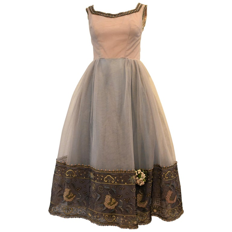 Pierre Balmain Haute Couture Ball Gown, Circa 1955