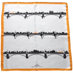 Hermès Carré Gavroche Pochette Air de Paris Paris in the Air Silk Scarf, 2006