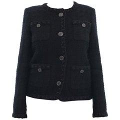 Chanel Classic Black Tweed Jacket, 2016