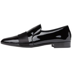Giuseppe Zanotti New Black Patent Men's Dress Suit Evening Loafers