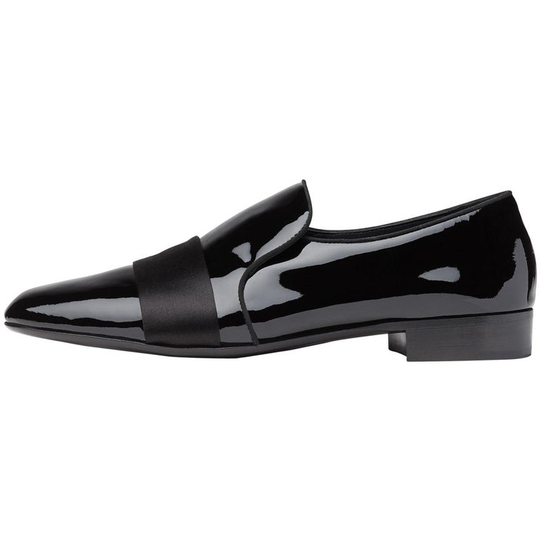 Giuseppe Zanotti New Black Patent Mens Dress Suit Evening Loafers
