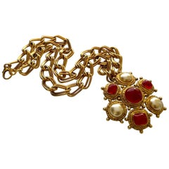 Chanel Vintage Byzantine Necklace / Brooch, 1980s