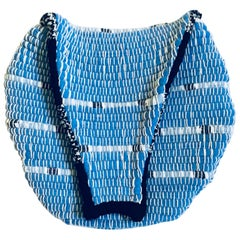 Round Blue/Black Fanny Pack