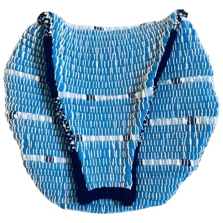 Round Blue/Black Fanny Pack