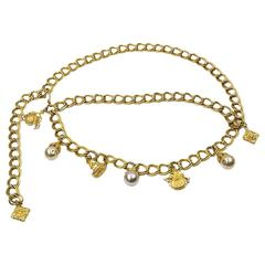 Statement-making Chain Link Charms Belt