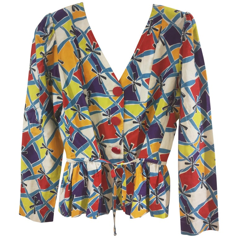 Yves Saint Laurent Variation Cotton Multicoloured Jacket Shirt