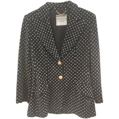 Moschino Couture Black White Velvet Jacket