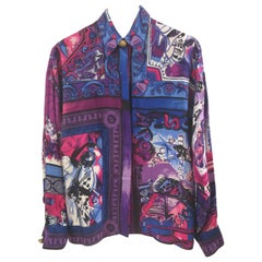 Gianni Versace Silk Mozart Bach Music & Atelier Shirt