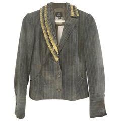 Versace Dark Green Denim Jacket