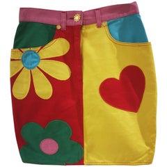 Moschino multicoloured cotton Skirt