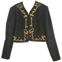 Moschino Cheap & Chic Black Gold Wool Jacket