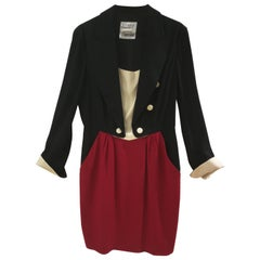 Moschino Cheap & Chic Black White Red Dress