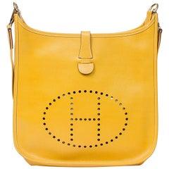 Hermes  Evelyne I GM Yellow Calf Leather Shoulder Bag