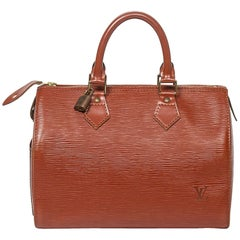 Louis Vuitton Speedy 25 Tan Calf Leather