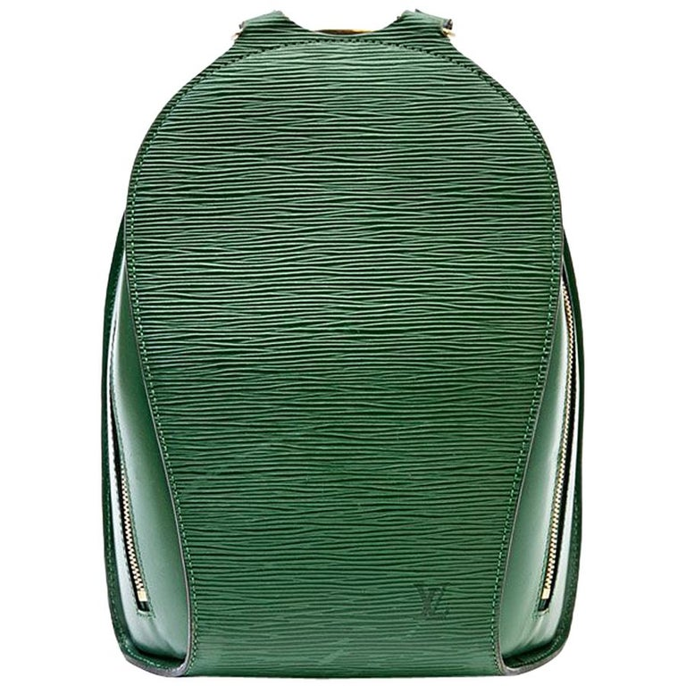 efe0ca179bc0 LOUIS VUITTON Backpack in Green Epi Leather at 1stdibs