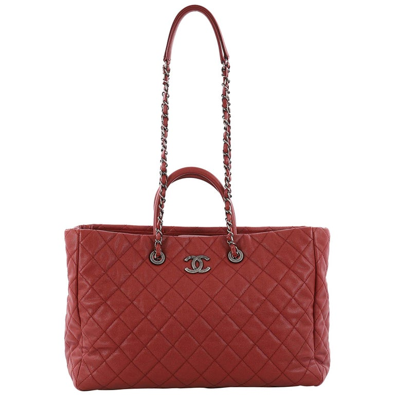 9c9df38788bf Chanel Coco Handle Shopping Tote Quilted Caviar Large at 1stdibs