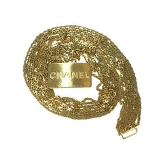 CHANEL Vintage Multi Chains Belt in Gilt Metal Size 76