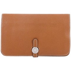 Hermes Dogon Combined Wallet Leather