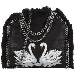 Stella McCartney Falabella Fold Over Crossbody Bag Embroidered Shaggy Deer with