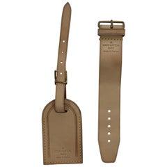 Louis Vuitton Large Bag Tag and Buckle Set Vachette