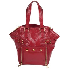 Yves Saint Laurent Downtown Bag Patent Leather - pink