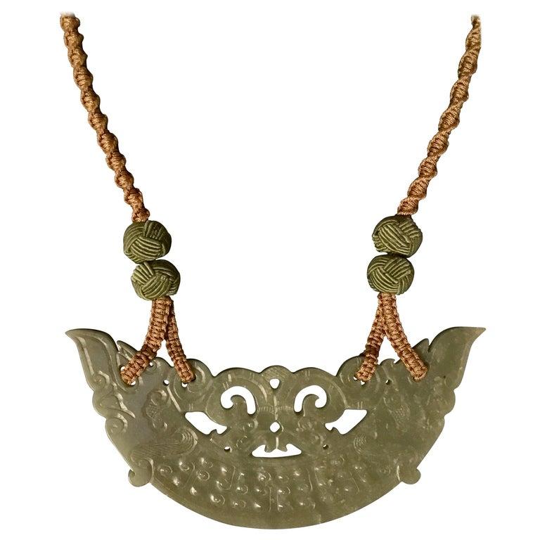 Jade Hand Carved Necklace