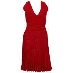 Alexandre Vauthier Sleeveless Red Dress