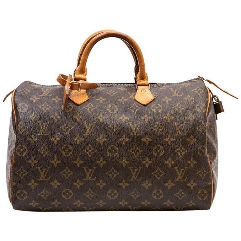 LOUIS VUITTON Vintage Speedy 35 Bag in Brown monogram Canvas at 1stdibs 8779d0384cbf4