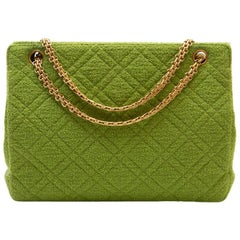 CHANEL Vintage Bag in Anise Green Terry Cloth
